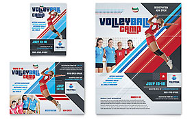 Volleyball Camp - Print Ad Sample Template