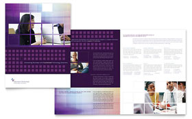 Information technology consultants brochure template for Informational brochure templates