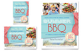 Summer BBQ - Print Ad Sample Template