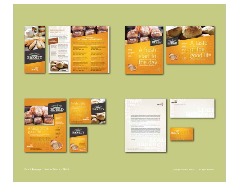 Bakery Graphic Design Catalog Page Sample