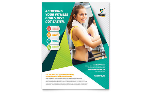 Sports Fitness Flyer Templates