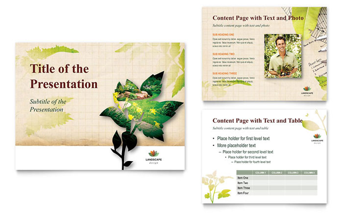 Landscape Design PowerPoint Presentation Template Design