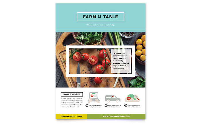 Organic Food Flyer Template Design