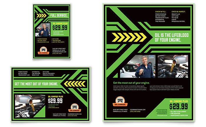 Auto Repair Flyer Ad Template Design