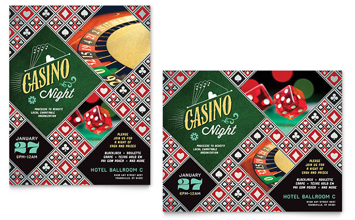 Casino Night Poster Design Idea