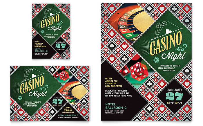 Casino Night - Flyer Design Idea
