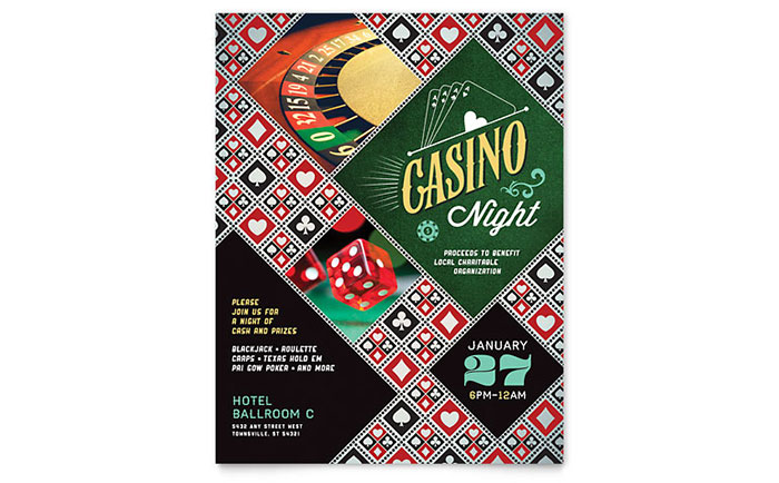 Casino Night Flyer Template Design