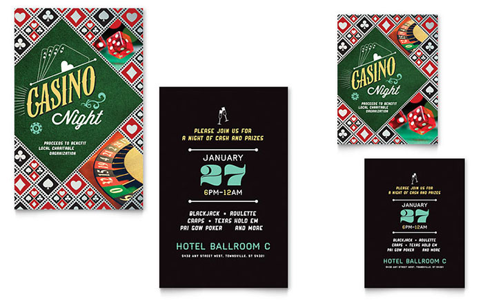 Casino Night Invitation Design Idea