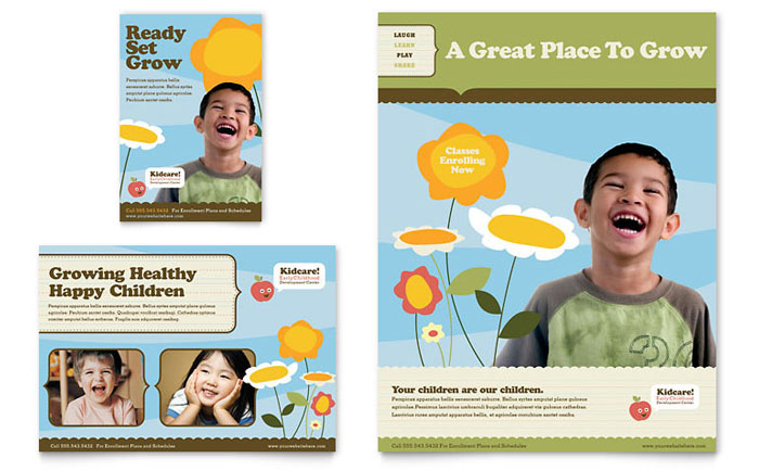 Child Development School Flyer & Ad Template Design Download - InDesign, Illustrator, Word, Publisher, Pages