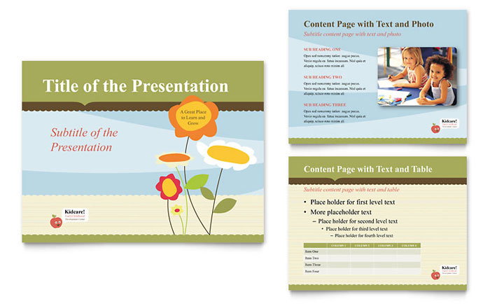 child development school powerpoint presentation template design