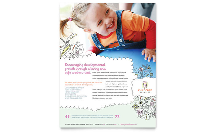 Babysitting  Daycare Flyer Template Design