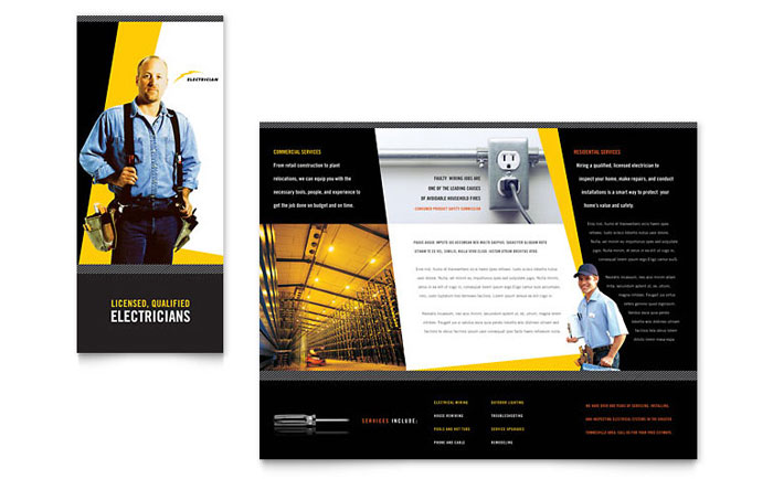 Construction Tri Fold Brochure Templates - Construction brochure templates