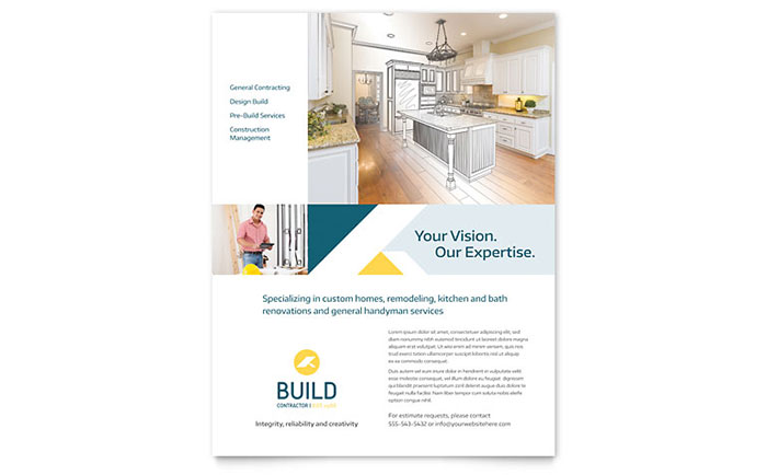 contractor flyer template design