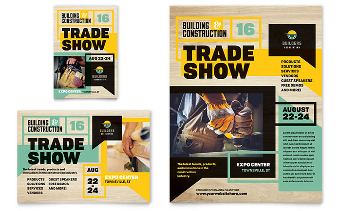 Builders Trade Show Flyer Ad Template Design