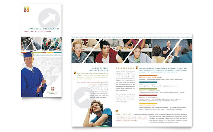 College Amp University Brochure Template Design