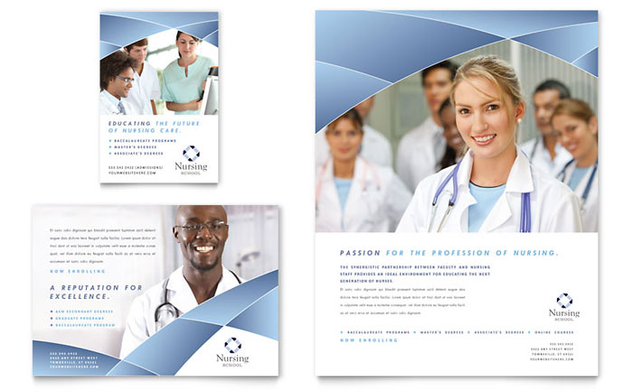 Nursing School Hospital Flyer Ad Template Design – Hospital Flyer Template