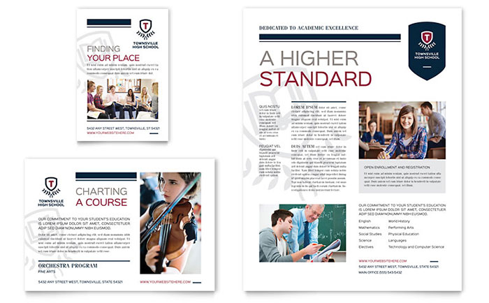 High School Flyer & Ad Template Design