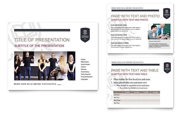 high school powerpoint presentation template design, Powerpoint templates
