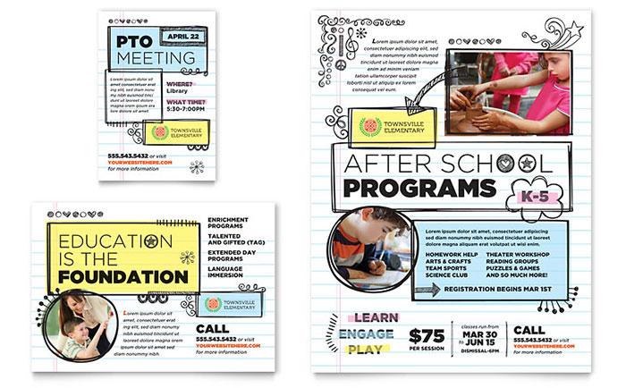 Elementary School Flyer Design Ideas