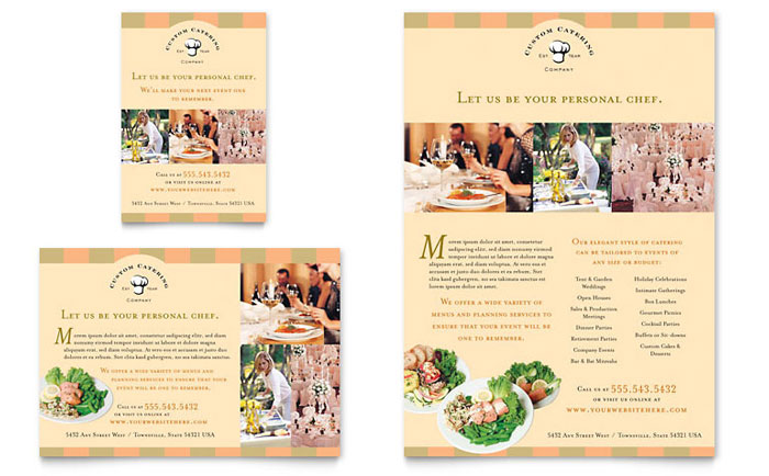 Catering Company Flyer & Ad Template Design