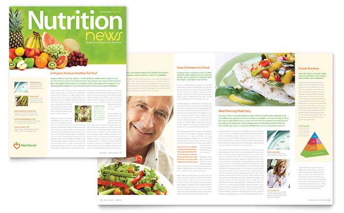 Nutritionist amp Dietitian Newsletter Template Design