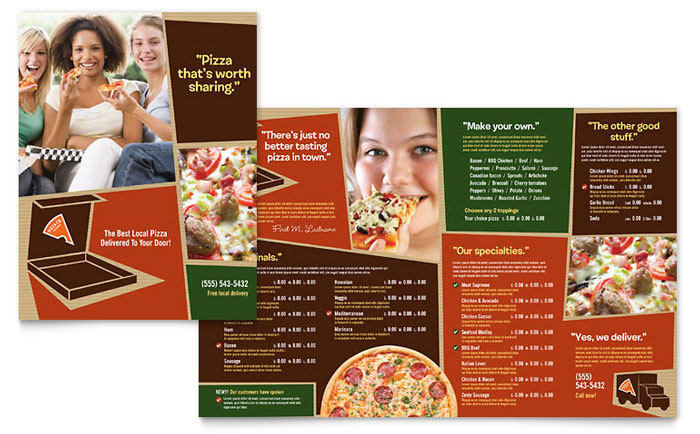 Pizza Pizzeria Restaurant Menu Template Design