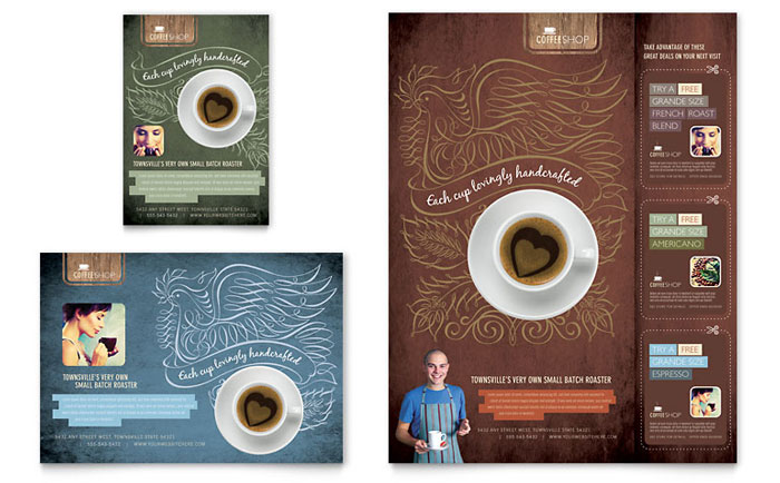 Coffee Shop Flyer & Ad Template Design