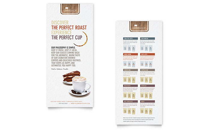 Coffee Shop Brochure Template Design