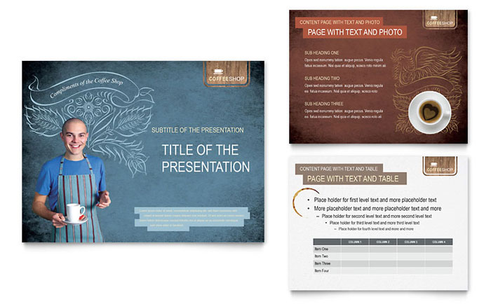 Coffee Shop Powerpoint Presentation Template Design