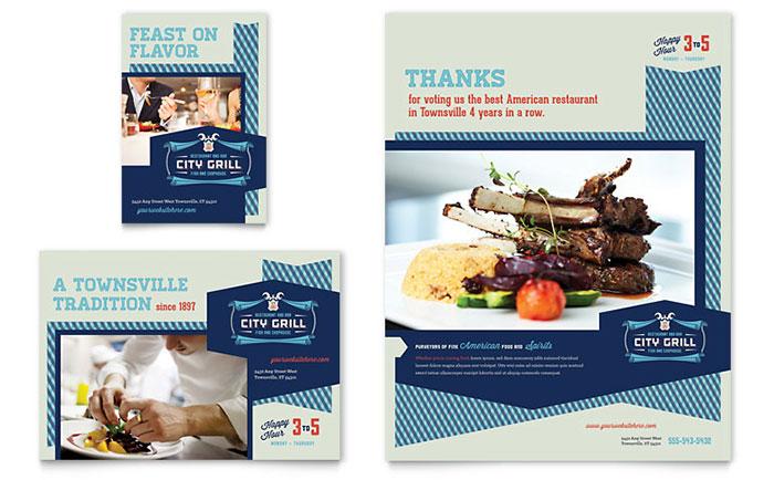 fine dining restaurant flyer ad template design