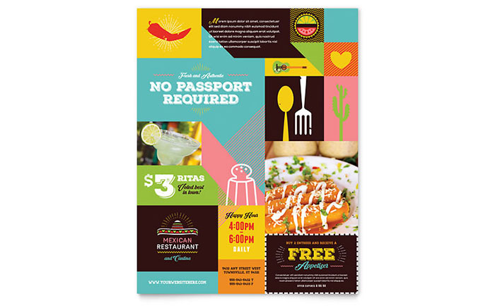 Mexican Food  Cantina Flyer Template Design