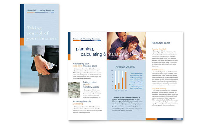 Financial Planning Consulting Brochure Template Design FN0040101 on Real Estate Flyer Templates Free Microsoft Word