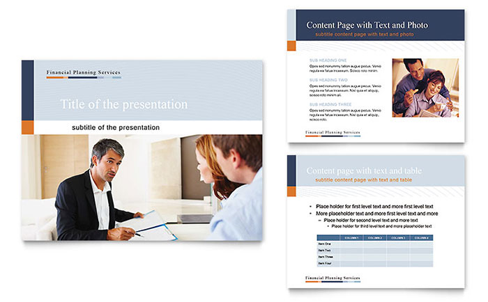 Financial Planning & Consulting PowerPoint Presentation Template Design