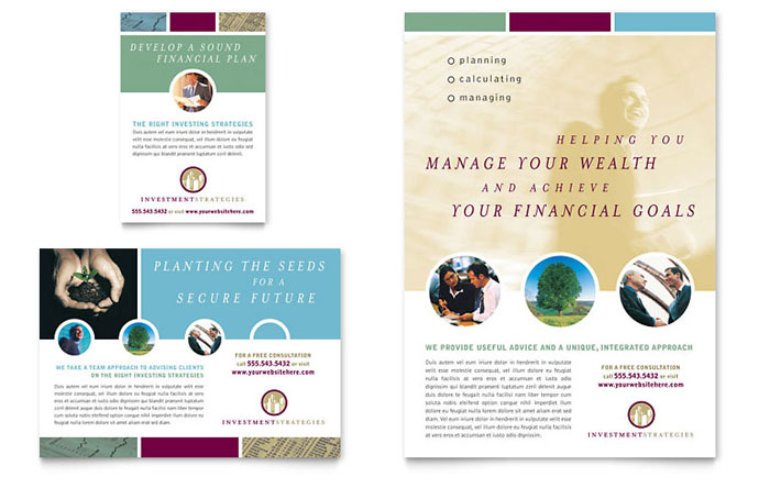 Financial Consulting Flyer & Ad Template Design Download - InDesign, Illustrator, Word, Publisher, Pages