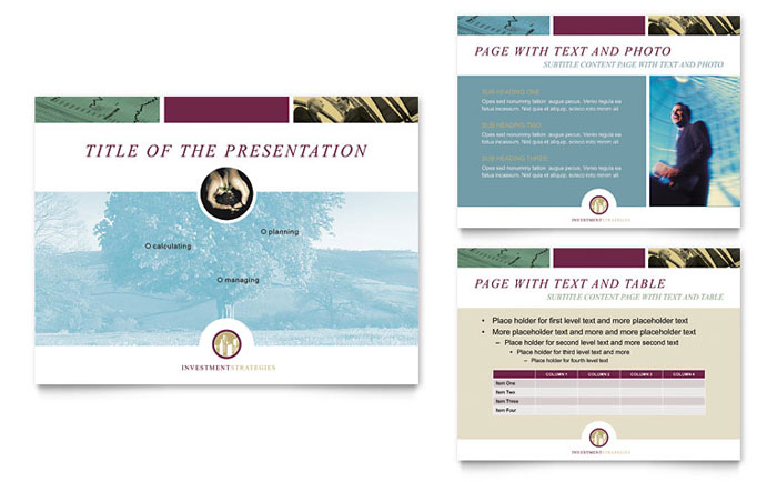 Financial consulting powerpoint presentation template design toneelgroepblik Images