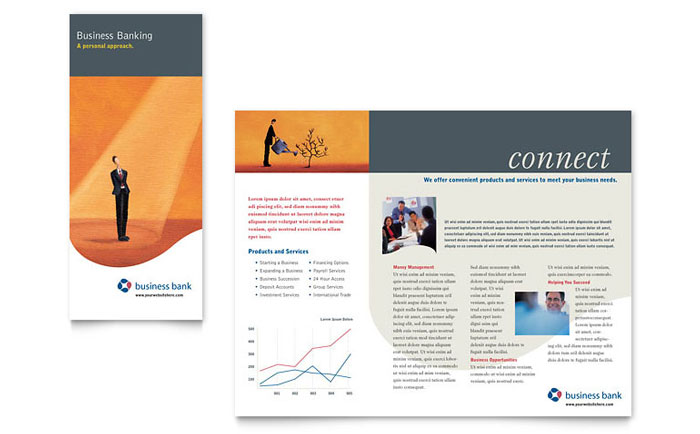 business bank brochure template design