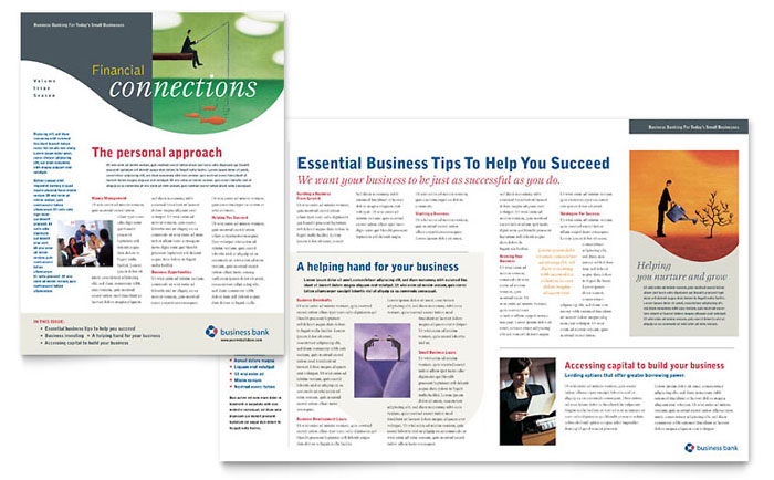 financial services newsletters templates design examples