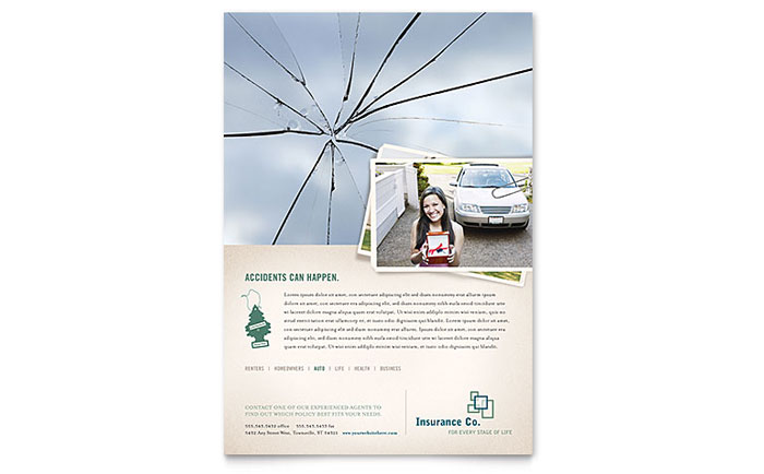 Life Insurance Company Flyer Template Design Download - InDesign, Illustrator, Word, Publisher, Pages