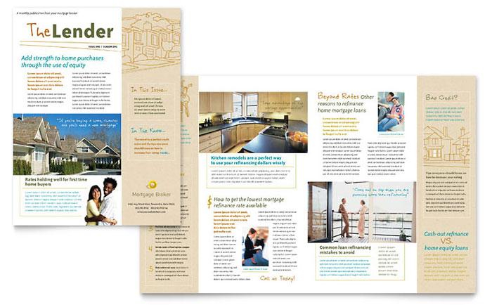 Mortgage Broker Newsletter Template Design