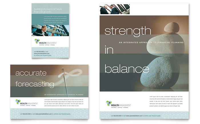 Wealth Management Services Flyer & Ad Template Download - InDesign, Illustrator, Word, Publisher, Pages