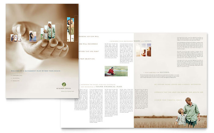 Retirement Investment Services Brochure Template Design Download - InDesign, Illustrator, Word, Publisher, Pages