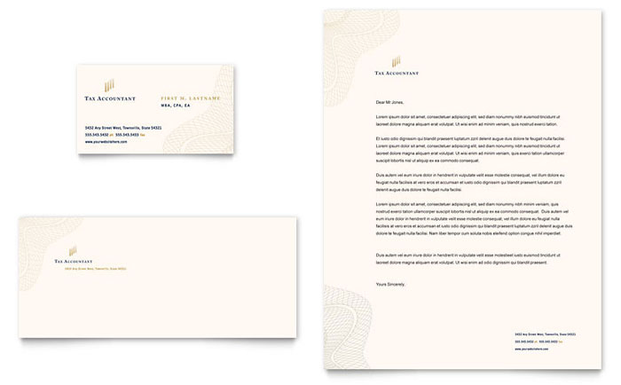 Cpa Tax Accountant Business Card Letterhead Template Design Indesign Ilrator Word