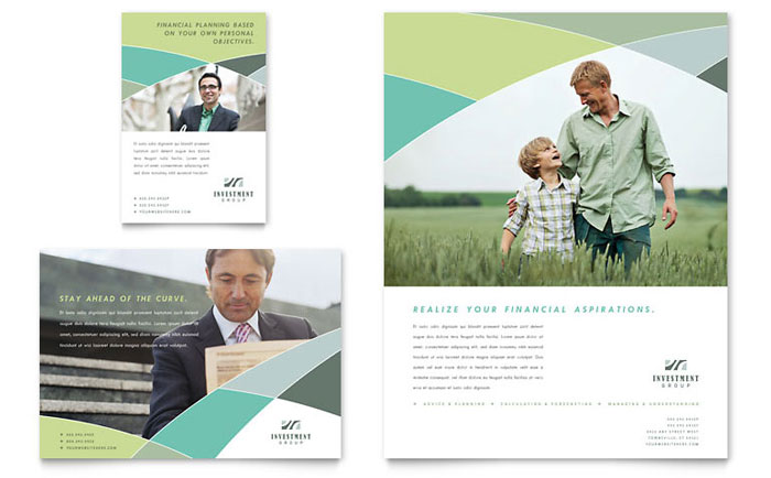 Financial Advisor Flyer & Ad Template Design Download - InDesign, Illustrator, Word, Publisher, Pages