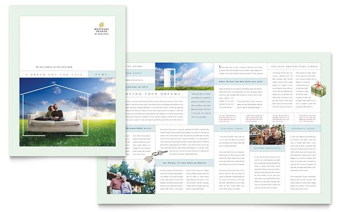 mortgage lenders brochure template design