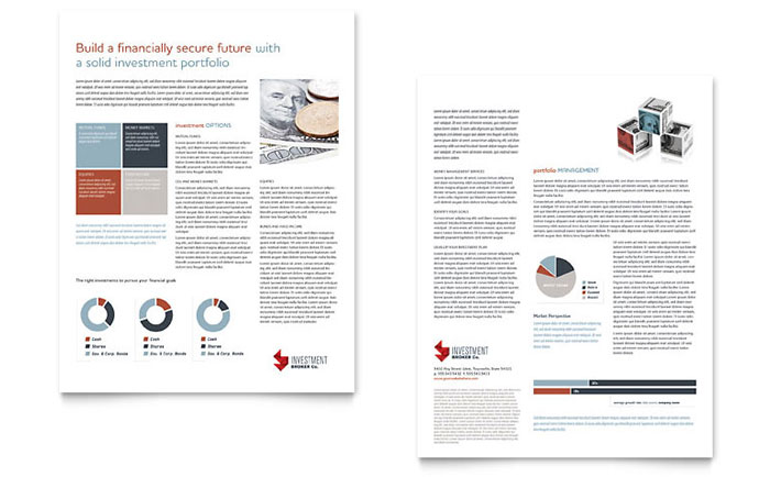 Investment Bank Datasheet Template Download - InDesign, Illustrator, Word, Publisher, Pages