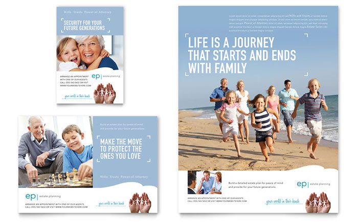 Estate Planning Flyer  Ad Template Design