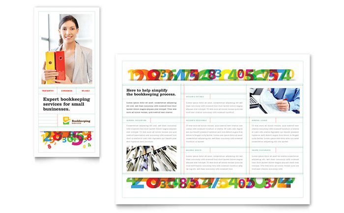 Financial Services X Brochure Templates - 85 x11 brochure template