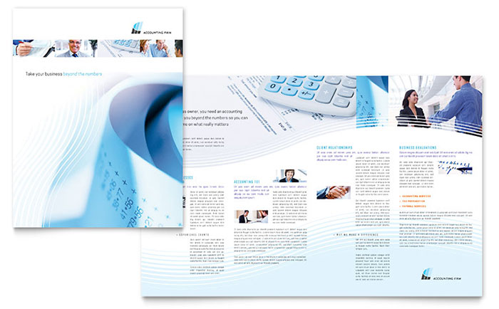 Accounting firm brochure template design pronofoot35fo Gallery