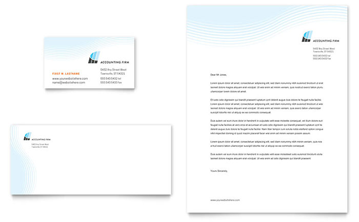 Business Card Template free business card template word : Accounting Firm Business Card u0026 Letterhead Template Design