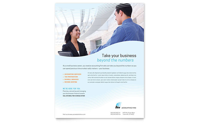 Accounting firm flyer template design pronofoot35fo Gallery